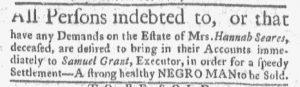 Sep 4 - Boston-Gazette Slavery 1
