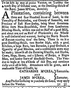 Sep 4 - New-York Gazette and Weekly Mercury Slavery 2