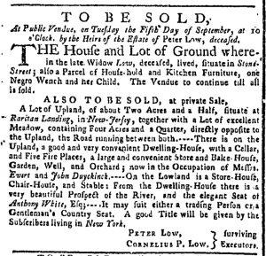 Sep 4 - New-York Gazette or Weekly Post-Boy Slavery 1