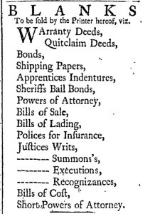 Sep 5 - 9:5:1769 Essex Gazette