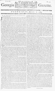 Sep 6 - 9:6:1769 Georgia Gazette