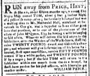 Sep 6 - South-Carolina and American General Gazette Slavery 4