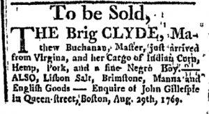 Sep 7 - Boston Chronicle Slavery 1