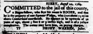 Sep 7 - Virginia Gazette Purdie and Dixon Slavery 5