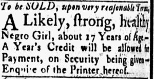 Jul 10 - Essex Gazette slavery 1