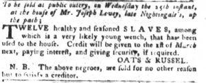 Jul 10 - South-Carolina Gazette and Country Journal slavery 2