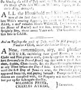 Jul 10 - South-Carolina Gazette and Country Journal slavery 9