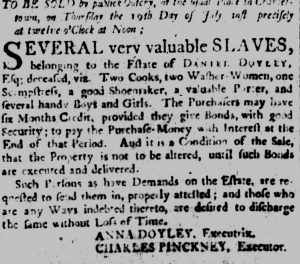 Jul 11 - South-Carolina and American General Gazette slavery 2