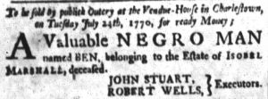 Jul 11 - South-Carolina and American General Gazette slavery 5