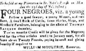Jul 11 - South-Carolina and American General Gazette slavery 8 8