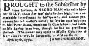 Jul 11 - South-Carolina and American General Gazette slavery 9