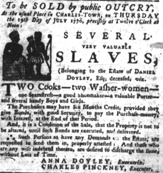 Jul 12 - South-Carolina Gazette slavery 4
