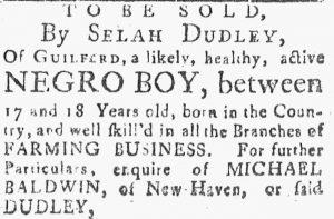 Jul 13 - Connecticut Journal slavery 1