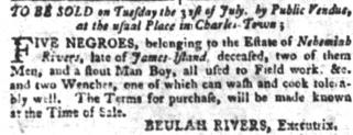 Jul 17 - South-Carolina Gazette and Country Journal slavery 11