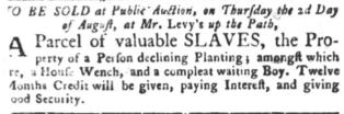 Jul 17 - South-Carolina Gazette and Country Journal slavery 4