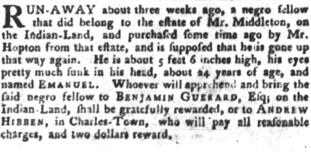 Jul 17 - South-Carolina Gazette and Country Journal slavery 6