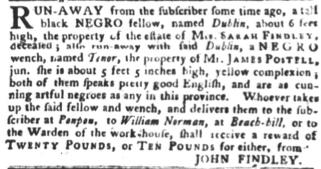 Jul 17 - South-Carolina Gazette and Country Journal slavery 7