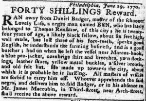 Jul 2 - Pennsylvania Chronicle slavery 1