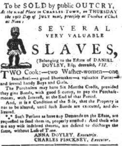 Jul 3 - South-Carolina Gazette and Country Journal slavery 1
