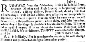 Jul 5 - Pennsylvania Journal slavery 1