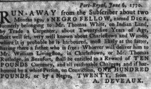 Jul 5 - South-Carolina Gazette slavery 6
