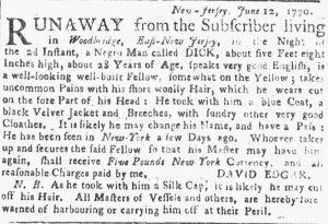Jul 9 - New-York Gazette or Weekly Post-Boy slavery 1