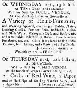 Jun 11 - Boston Evening-Post Slavery 1