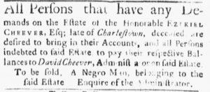 Jun 11 - Boston Evening-Post Slavery 5