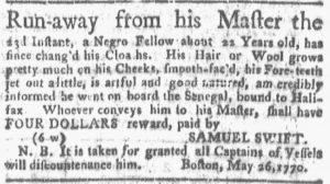Jun 11 - Boston Gazette and Country Journal Slavery 2
