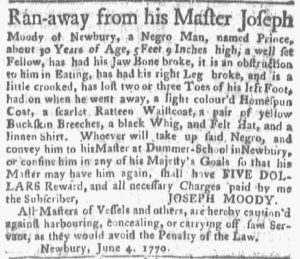 Jun 11 - Boston Gazette and Country Journal Slavery 3