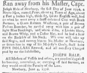 Jun 11 - Boston Gazette and Country Journal Slavery 4