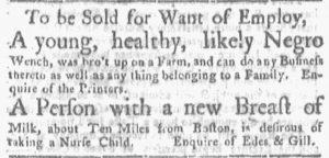 Jun 11 - Boston Gazette and Country Journal Slavery 5