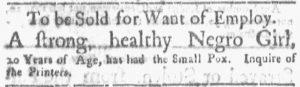 Jun 11 - Boston Gazette and Country Journal Slavery 6