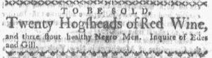 Jun 11 - Boston Gazette and Country Journal Slavery 7