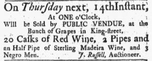 Jun 11 - Massachusetts Gazette and Boston Post-Boy Slavery 1