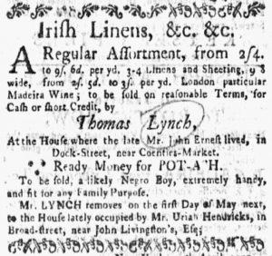 Jun 11 - New-York Gazette and the Weekly Mercury Slavery 10