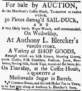 Jun 11 - New-York Gazette and the Weekly Mercury Slavery 2