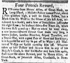 Jun 11 - New-York Gazette and the Weekly Mercury Slavery 5