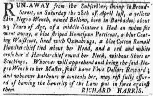 Jun 11 - New-York Gazette and the Weekly Mercury Slavery 6