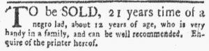 Jun 11 - New-York Gazette and the Weekly Mercury Slavery 7