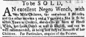 Jun 11 - New-York Gazette and the Weekly Mercury Slavery 8