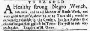 Jun 11 - New-York Gazette and the Weekly Mercury Slavery 9