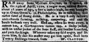 Jun 11 - Pennsylvania Chronicle and Universal Advertiser Slavery 1