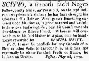 Jun 4 - Boston Evening-Post Slavery 1