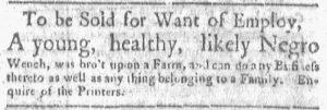 Jun 4 - Boston Gazette and Country Journal Slavery 2