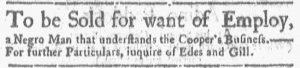 Jun 4 - Boston Gazette and Country Journal Supplement Slavery 3