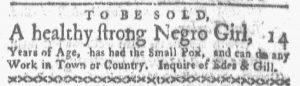 Jun 4 - Boston Gazette and Country Journal Supplement Slavery 4