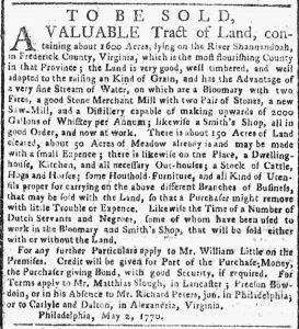 Jun 4 - New-York Gazette or Weekly Post-Boy Slavery 1