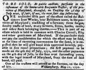 Jun 4 - Pennsylvania Chronicle and Universal Advertiser Slavery 1
