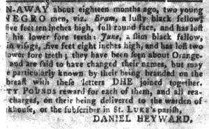 Jun 5 - South Carolina Gazette and Country Journal Slavery 1